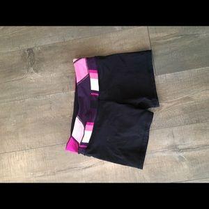 Lululemon workout shorts size 6 reversible